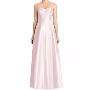 Alfred Sung Sweetheart Strapless A-Line Blush Gown